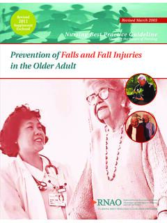 Prevention of Falls and Fall Injuries in the Older Adult