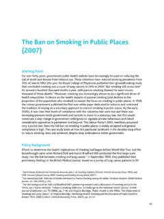 The Ban on Smoking in Public Places (2007)