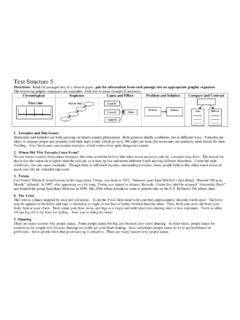 Text Structure 2 - Ereading Worksheets