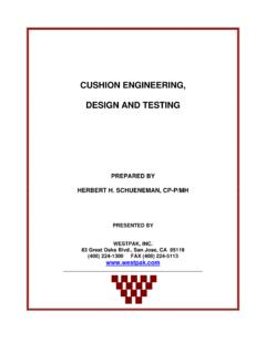 Cushion Engineering, design, and testing - Westpak