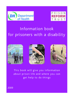 Information book for prisoners with a disability