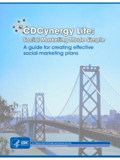 CDCynergy Lite: Social Marketing Made Simple