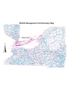 Wildlife Management Unit Boundary Map 2009-10