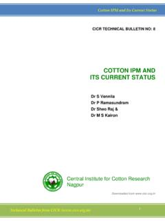 COTTON IPM AND ITS CURRENT STATUS - Central Institute …