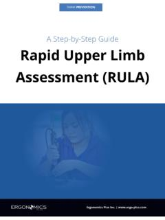 A Step-by-Step Guide Rapid Upper Limb Assessment (RULA)