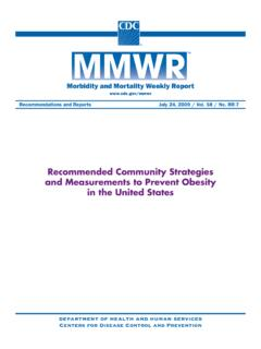 Recommended Community Strategies and Measurements …