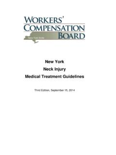 New York Neck Injury Medical Treatment Guidelines