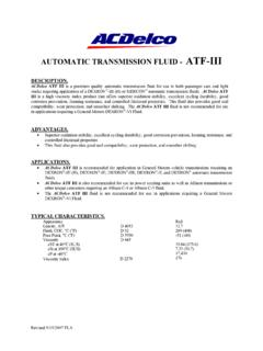 AUTOMATIC TRANSMISSION FLUID - ATF-III - ACDelco