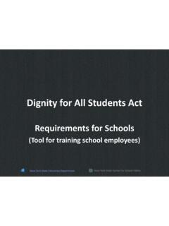 Dignity for All Students Act (DASA)