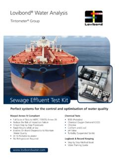 Perfect systems for the control and optimisation of water ...