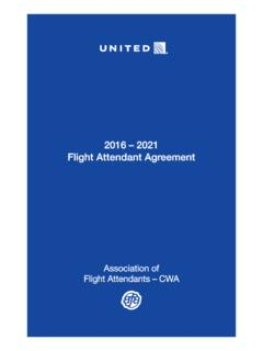 2016 – 2021 Flight Attendant Agreement