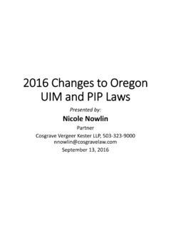 2016 Changes in Oregon [Read-Only] - Law Firm