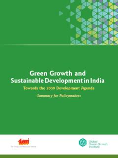 Green Growth and Sustainable Development in India