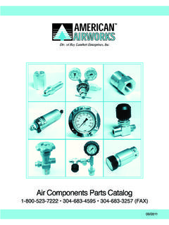 Air Components Parts Catalog - American Airworks