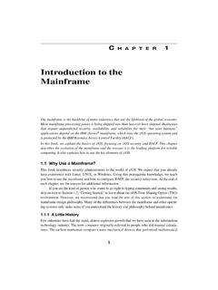 Introduction to the Mainframe - pearsoncmg.com