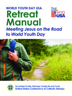 WORLD YOUTH DAY USA Retreat Manual