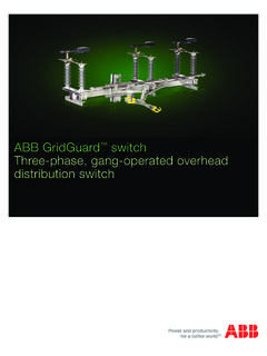 ABB GridGuard three-phase, gang-operated overhead ...