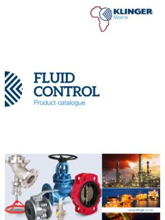 Klinger Mzansi Fluid Control Catalogue