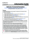 Information Guide - Nebraska Department of Revenue