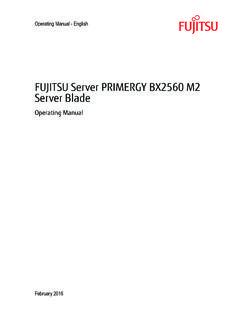 PRIMERGY BX2560 M2 Server Blade Operating …