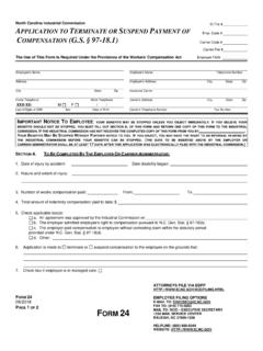 North Carolina Industrial Commission A TERMINATE OR ...