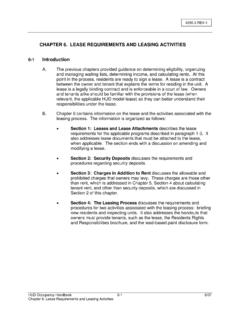 CHAPTER 6. LEASE REQUIREMENTS AND LEASING ACTIVITIES …