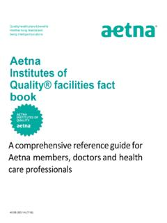 Aetna Institutes of Quality® facilities fact book