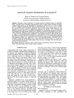 Clays and Clay Minerals, Vol. 45, No. 1, 85-91, 1997.