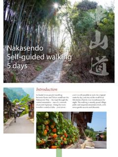 Nakasendo Self-guided walking 5 days - Oku Japan