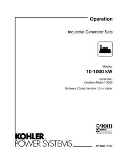 Industrial Generator Sets - Kohler Power