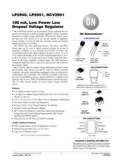 LP2950 - 100 mA, Low Power Low Dropout Voltage …