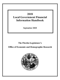 2018 Local Government Financial Information Handbook