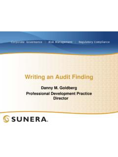 Writing an Audit Finding