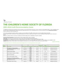 CHILDREN'S HOME SOCIETY OF FLORIDA - University of …