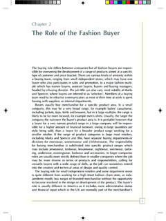 Chapter 2 The Role of the Fashion Buyer - Wiley …