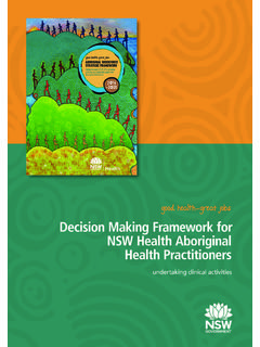 Decision Making Framework for NSW Health Aboriginal