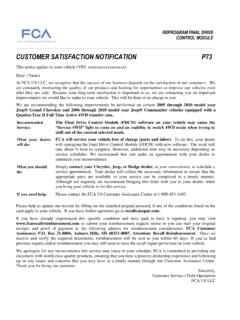 CUSTOMER SATISFACTION NOTIFICATION P73 - …