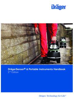 DrägerSensor® & Portable Instruments Handbook nd Edition