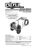 Pressure Washer Operation Manual