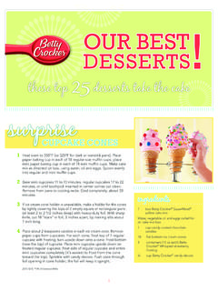 OUR BEST DESSERTS - Betty Crocker Community