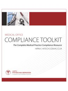 MEDICAL OFFICE COMPLIANCE TOOLKIT - AAPC