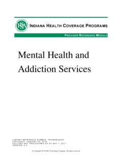 Mental Health and Addiction Services - in