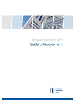European Investment Bank Guide to Procurement