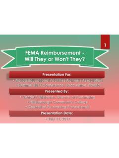 FEMA Reimbursement - Will They or Won't They?
