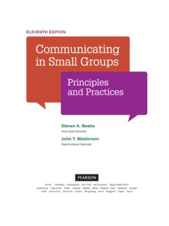 eleventh edition Communicating in Small Groups - Pearson
