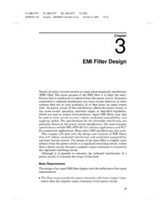 EMI Filter Design - Reverse engineering