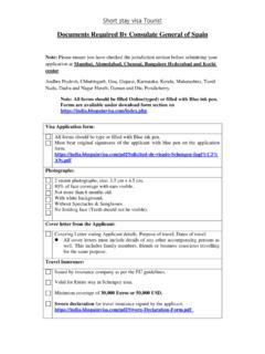 Documents Required By Consulate General ... - BLS Spain Visa