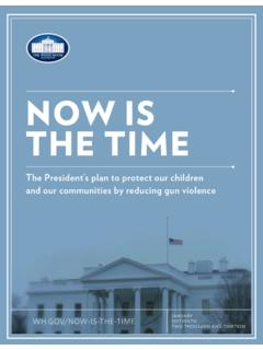 NOW IS THE TIME - whitehouse.gov