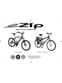 HYBRID ELECTRIC BICYCLE OWNER'S MANUAL
