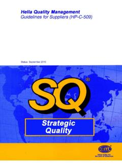 HP-C 509 Version 2010 - Supplier Quality Manuals